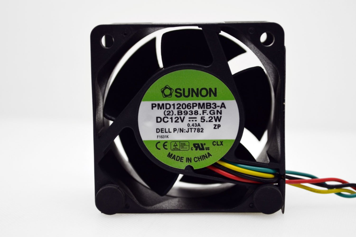 Sunon PMD1206PMB3-A 5.2W Compatible Part Number N5412N 4-Pin Connector 60mm x 60mm x 38mm .B938.F Cooling Fan 12V~.43Amp 2