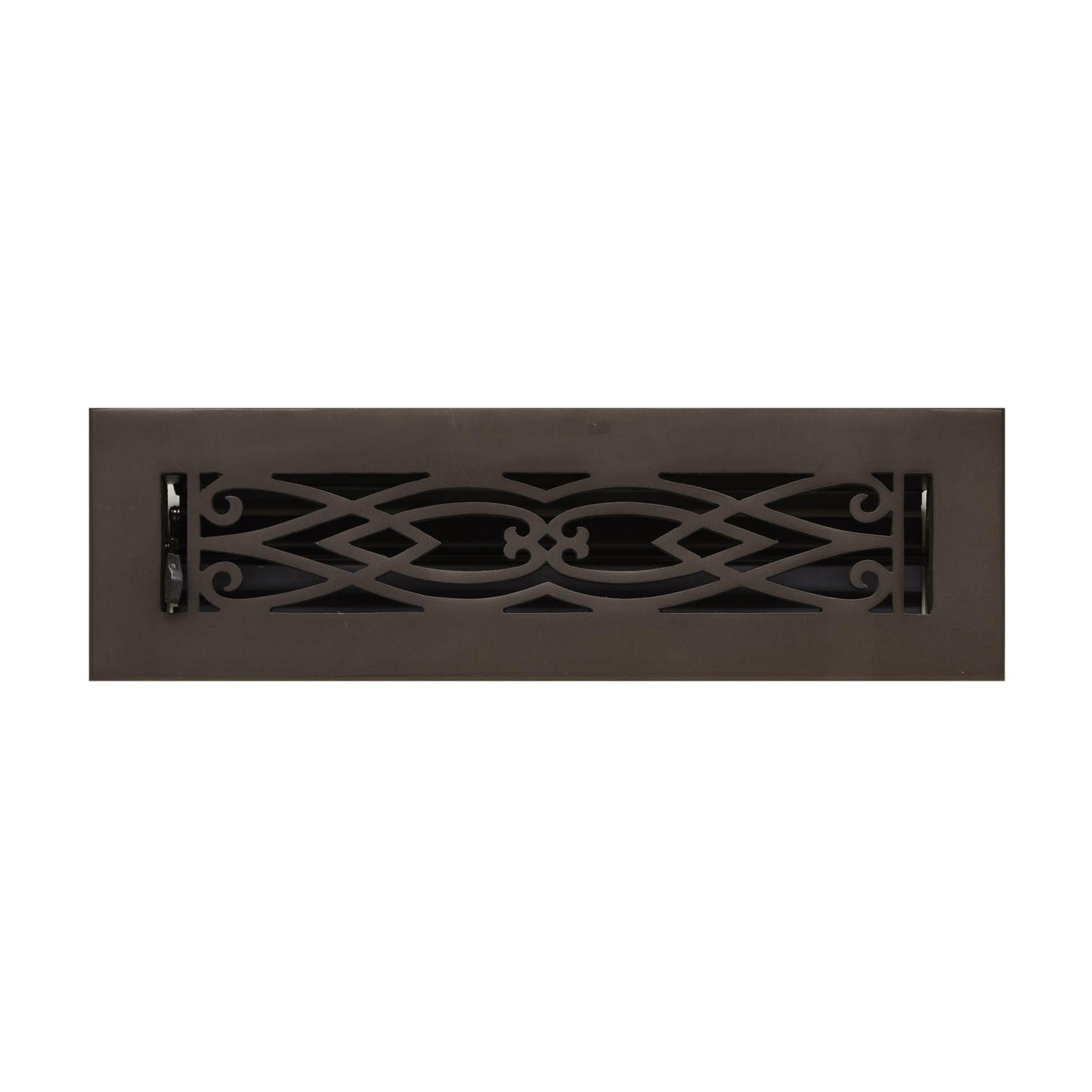 Naiture 2-1/4'' x 14'' Brass Floor Register Victorian Style Oil Rubbed Bronze Finish