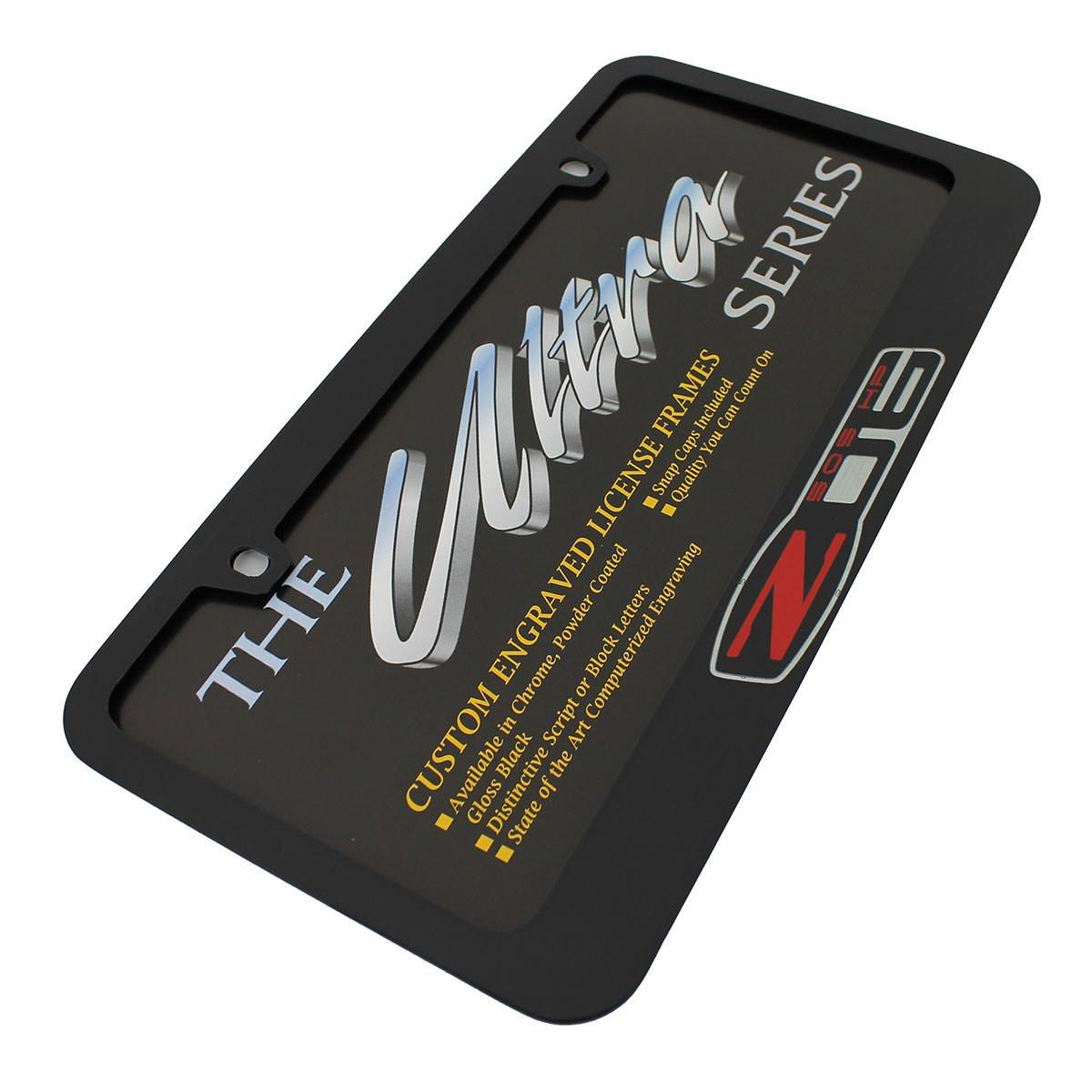 Chevrolet Corvette C6 Z06 Black Metal License Plate Frame EL