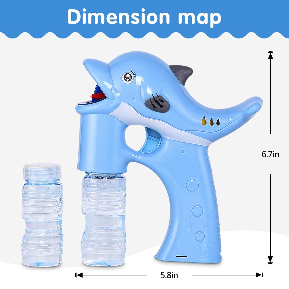 Lovelion Dolphin Bubble Gun Blower with LED Light with Music Suitable for Girls and Boys Over 1.2.3 Years Oldc by Lovelion (Image #3)