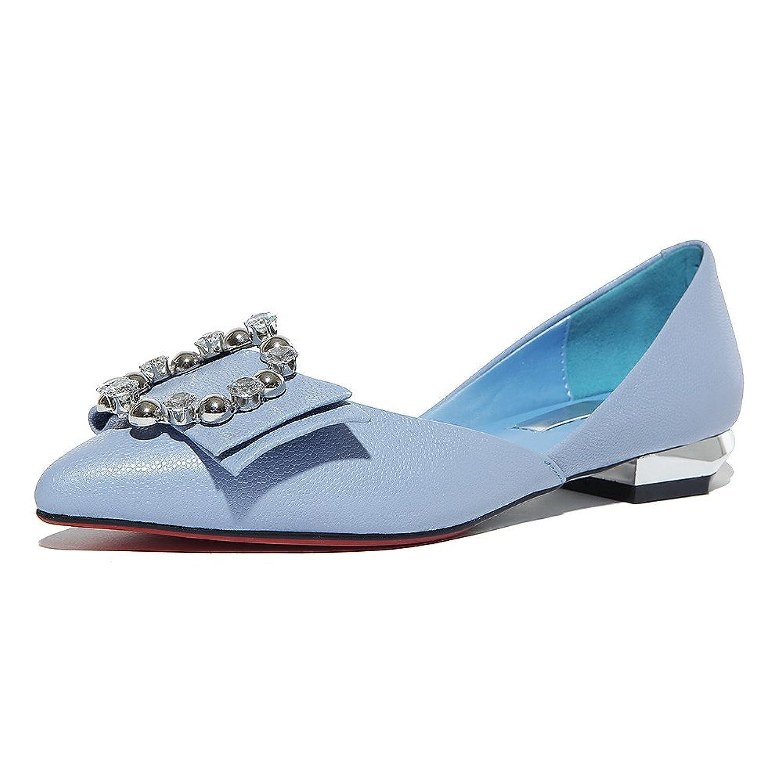 Nine Seven Genuine Leather Women's Pointy Toe Elegant Handmade Dress Flats Shoes