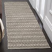 Safavieh Montauk Collection MTK341D Ivory and Black Runner (23 x 6)