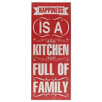 Glück Ist Eine Küche Full Of Familie Schablone Schild Rustikal Primitiv  Home Wand Decor