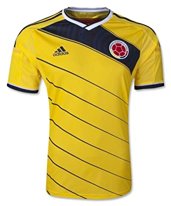 85f64a947a5 Amazon.com  Colombia 2014 Authentic Home Soccer Jersey  Clothing