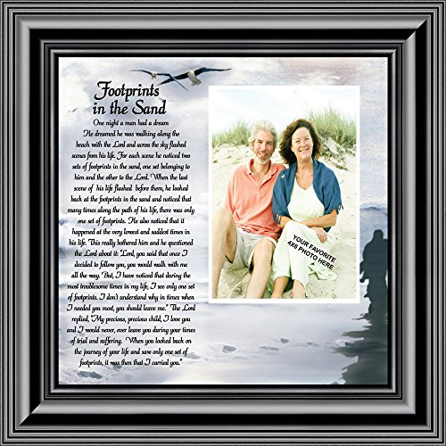 (Footprints in the Sand, Personalized Framed Picture 10X10 6703B)