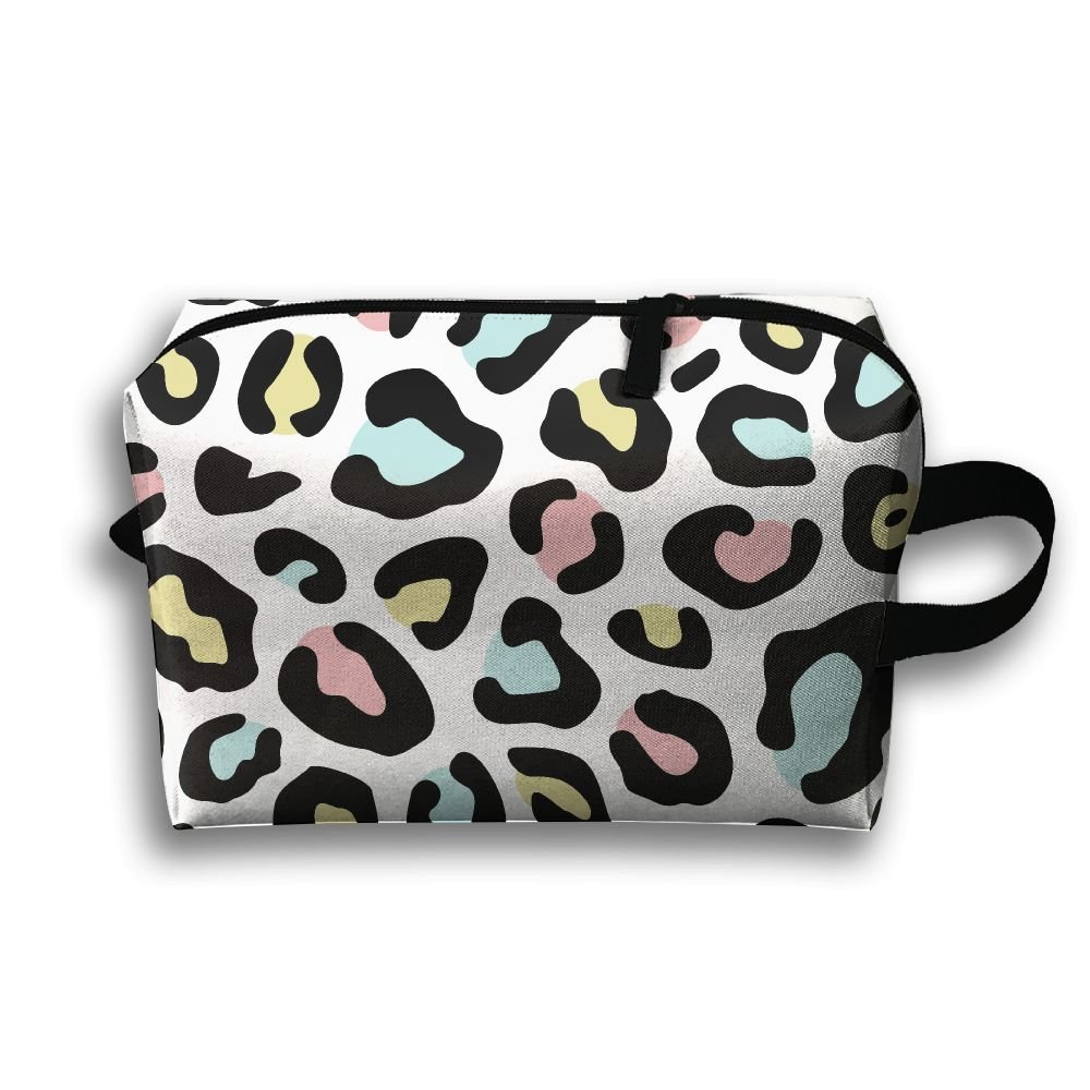 811ee0d55764 LEIJGS Watercolor Leopard Pattern Small Travel Toiletry Bag Super Light  Toiletry Organizer For Overnight Trip Bag
