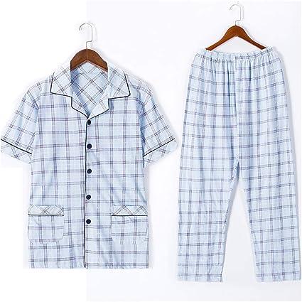 Pijamas Hombre Ropa de Dormir British Plaid camisón de ...