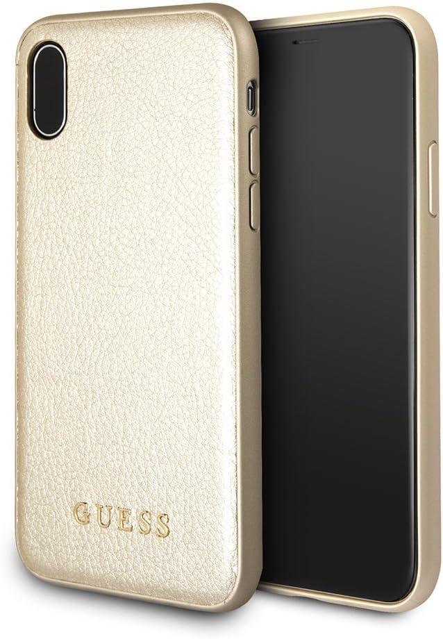 Guess Iridiscente - Estuche para Apple iPhone X, color dorado: Amazon.es: Electrónica