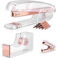 Creechwa Kit de accesorios de escritorio, dispensador de cinta, removedor de grapas, juego de grapas acrílicas para…