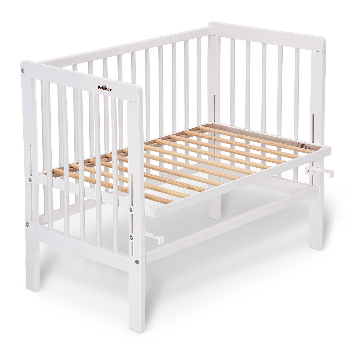 fabimax cama auxiliar Basic Color Blanco, Incluye Colchón y protector de cuna blanco 01. Sterne klein/weiß Talla:mit Matratze CLASSIC: Amazon.es: Bebé