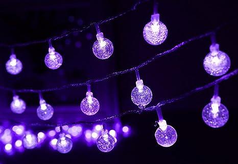 Keeda crystal globe ball string lights m m led bubble