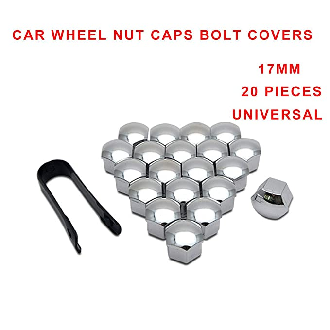 20pcs Wheel Nut Covers Lug Nut Caps Universal 21mm Screw Protector Blue KKmoon Wheel Nut Covers,Wheel Nut Caps