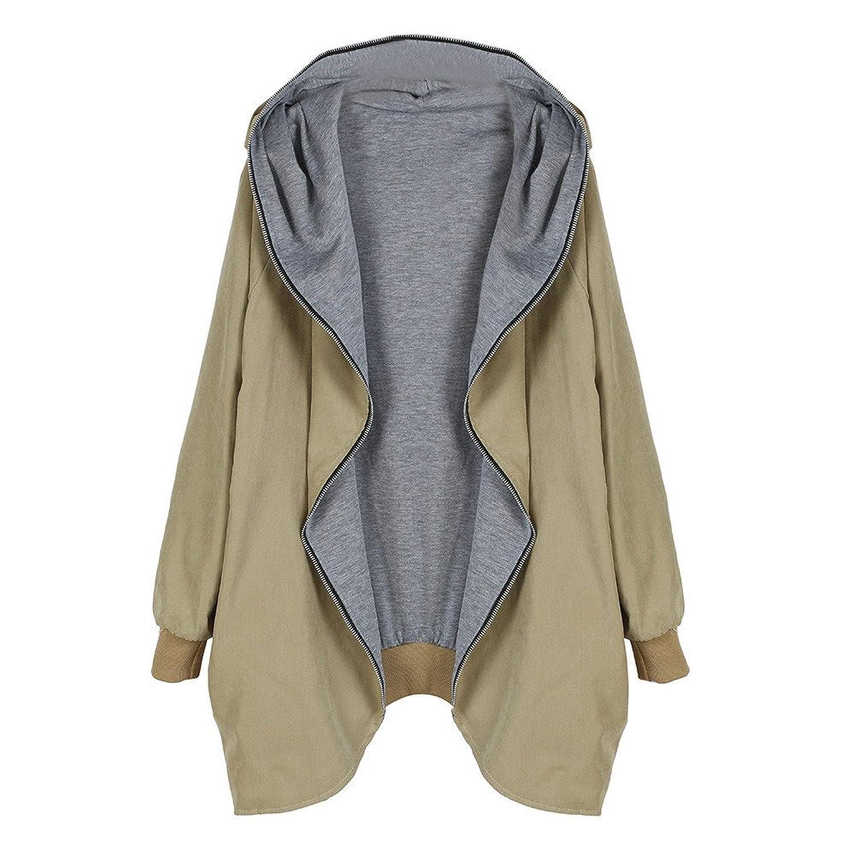 Damen Hoodie Mantel Übergröße Loose Stil Bekleidung Loveso