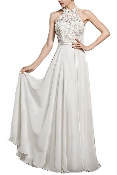 Mock Neck Lace Wedding Dress Pic