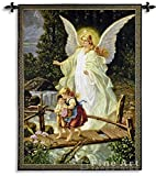Fine Art Tapestries ''Guardian Angel 1900'' Wall Tapestry