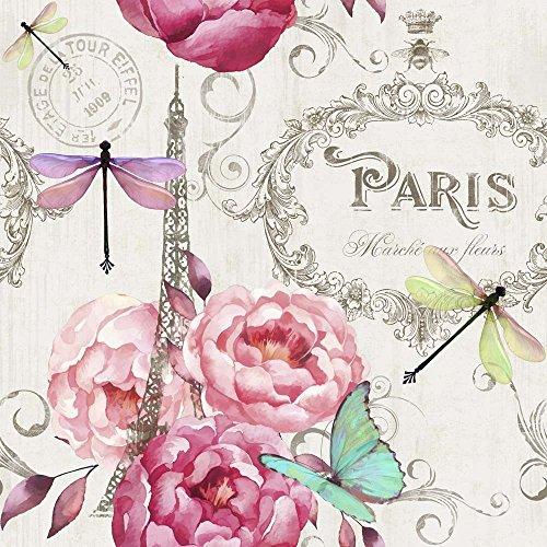- Paris Flower Market Pattern by Tina Lavoie Art Print, 22 x 22 inches