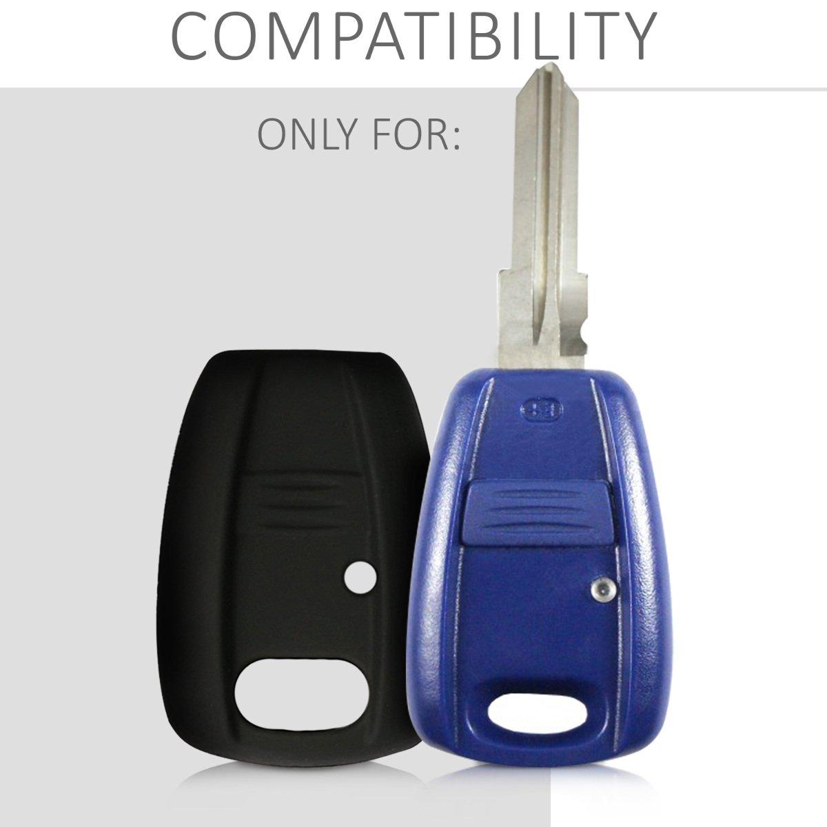 Protezione in Silicone kwmobile Cover Chiave Auto per Fiat Custodia per Chiave Fiat con 1 Tasti Guscio Protettivo coprichiave
