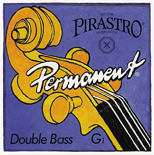 Full Set Double Bass (Pirastro Permanent Series Double Bass String Set 3/4 Set Orchestra)