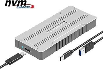 ElecGear NVMe USB 3.1 Estuche, NVMe PCI-e M.2 SSD Caja de Carcasa ...