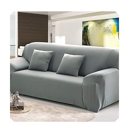 Amazon.com: Solid Color Sofa Cover Stretch seat Couch Covers ...