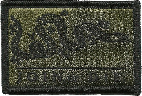 Join Or Die Tactical Patch - Olive Drab by Gadsden and Culpe
