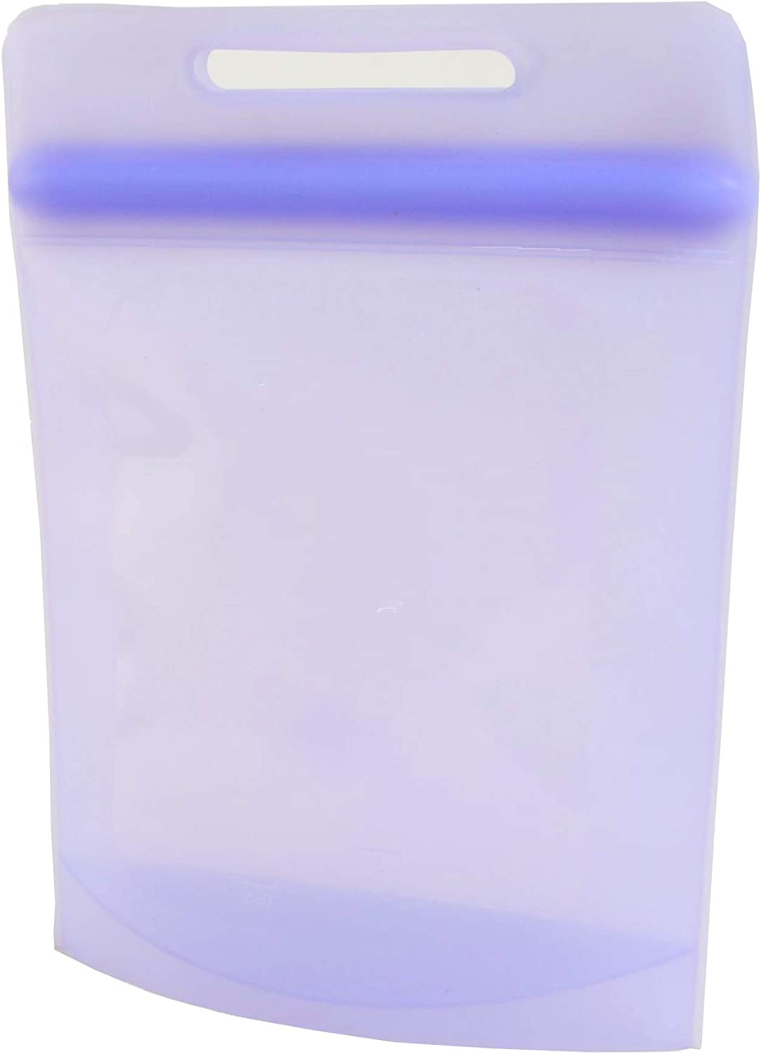 Reusable Ziplock-Bags Silicone Food Storage-Bags - HFLHLL 100% Food Grade Sandwich/Snack/Gallon Bags, Suitable for Sous Vide, Microwave And Freezer, Eco-Friendly And Sustainable, (Lavender,Tote)
