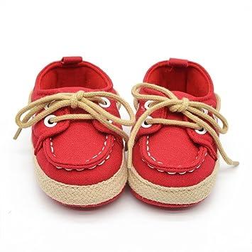 Bébé enfant garçon fille Soft semelle chaussure tout-petits chaussures rouge Mfwmpl