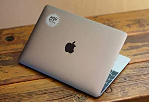 "EppoBrand Design Art Black Apple Logo Sticker Decal for 12"" Inch MacBook and 13"" 15"" Inch Macbooks Pro/Air Laptop Without Backlited Logo VSCO - Perfect Fit"