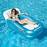 MD Group Inflatble Lounger Cooler Couch Oversized 1 Person Heavy Duty Vinyl Air Bed Floating Couch