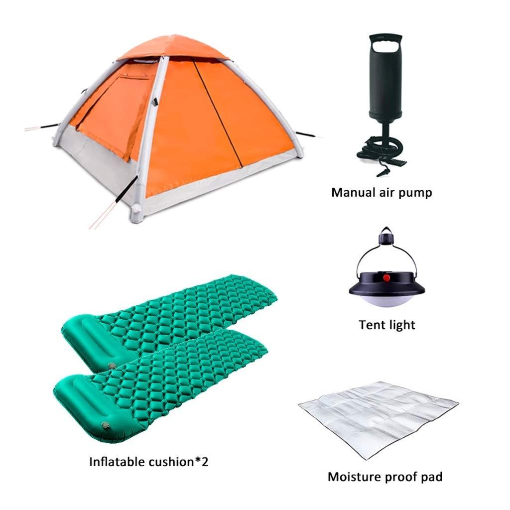 QZZQ Pop up Tente Gonflable Tente, Champ Camping 3-4 Personnes De Plein Air Coupe-Vent Imperméable Plage Tourisme Pêche Portable Pompe à Air Tente de Plage  E