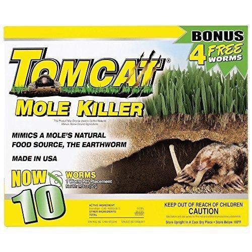 Nceonshop(TM) Tomcat Mole Killer, 10-Pack New