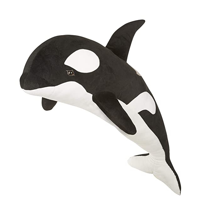 Amazon Com Melissa Doug Giant Orca Whale Lifelike Stuffed
