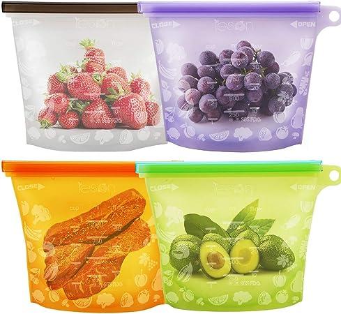 Amazon.com: Alimentos de silicona bolsa preservación de ...