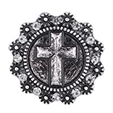 Wholesale Vocheng 18mm Vintage Cross Metal Snap Button Jewelry Vn-1038*20 Pack of 20pcs