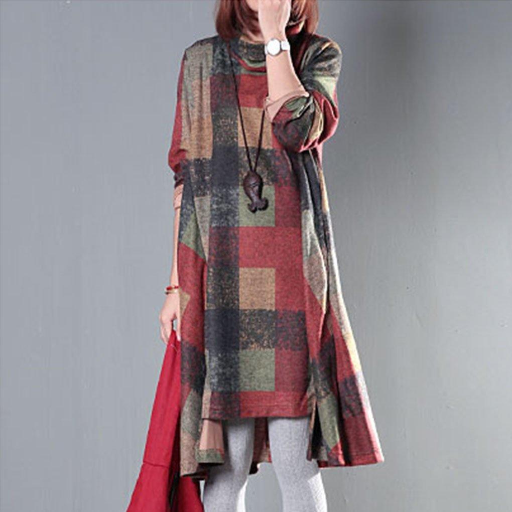 Landove Pullover Vestito Donna Invernale Casual Felpa Manica Lunga ... ae3fc2c6c67