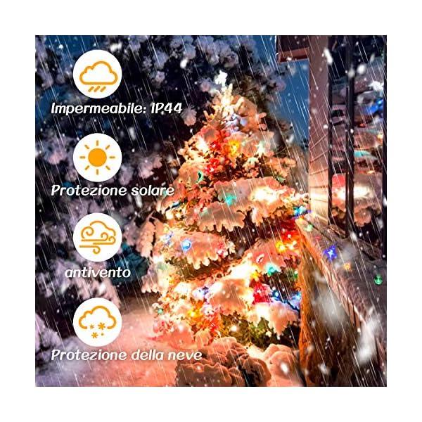 Luce della stringa,Tececu luce decorativa esterna 50 Palla LED USB, Catene Luminose 5M con 8 Modalità, per Interno/Esterno, Feste, Giardino, Natale, Matrimonio, Albero di Natale, Terrazzo 3 spesavip