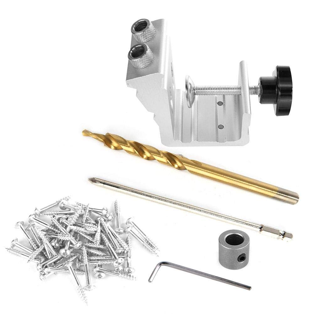 Hole Puncher, 3 in 1 Wood Dowel Hole Jig Drill Bit Kit Woodworking Hole Locator Puncher