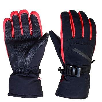 6fa5b920d1e07a Tobbiheim Skihandschuhe Herren, Wasserdicht Handschuhe Skifahren  Winterhandschuhe Fahrradhandschuhe Thinsulate mit Reißverschlusstasche  Handgelenk ...