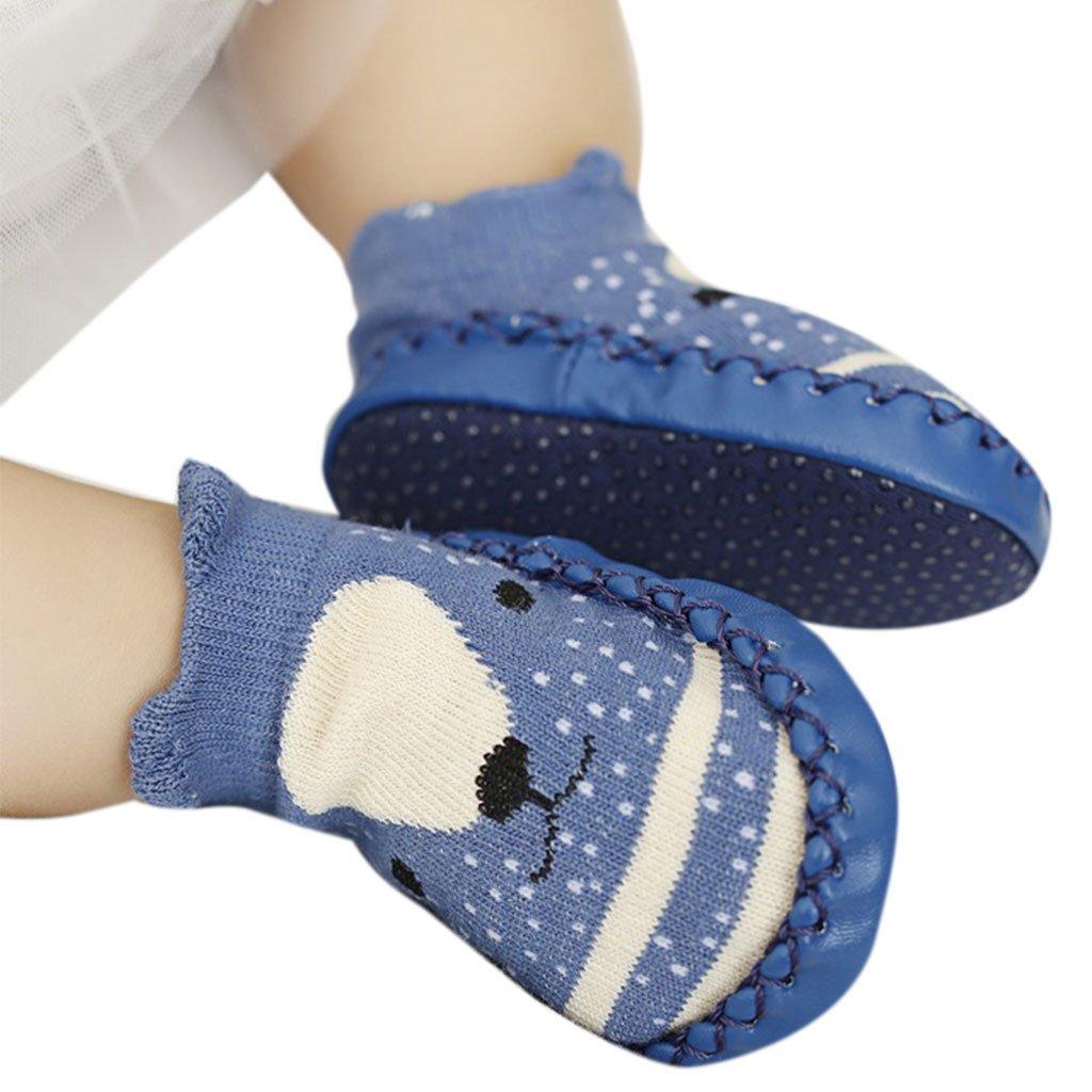 Lamdoo Cartoon Baby Shoes Floor Socks Anti Slip Toddler Cotton Indoor Walk Learning New Khaki XS