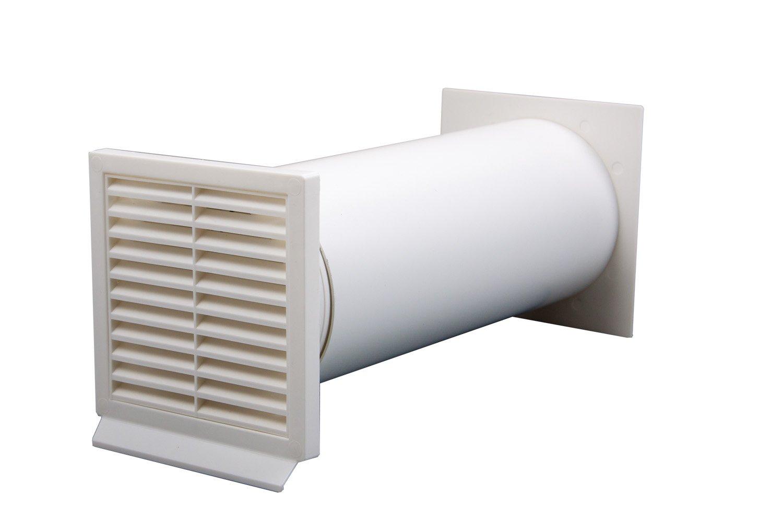 IKM 40040500 Dunstabzugshaubenzubehör/Abluftrohre und schläuche/rund weiß 125-er