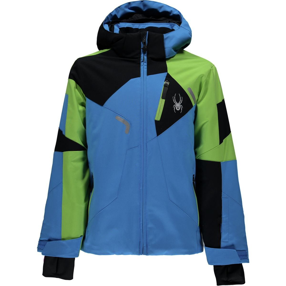 Spyder Kids  Boy's Leader Jacket (Big Kids) Fresh Blue/Fresh/Black 12 by Spyder