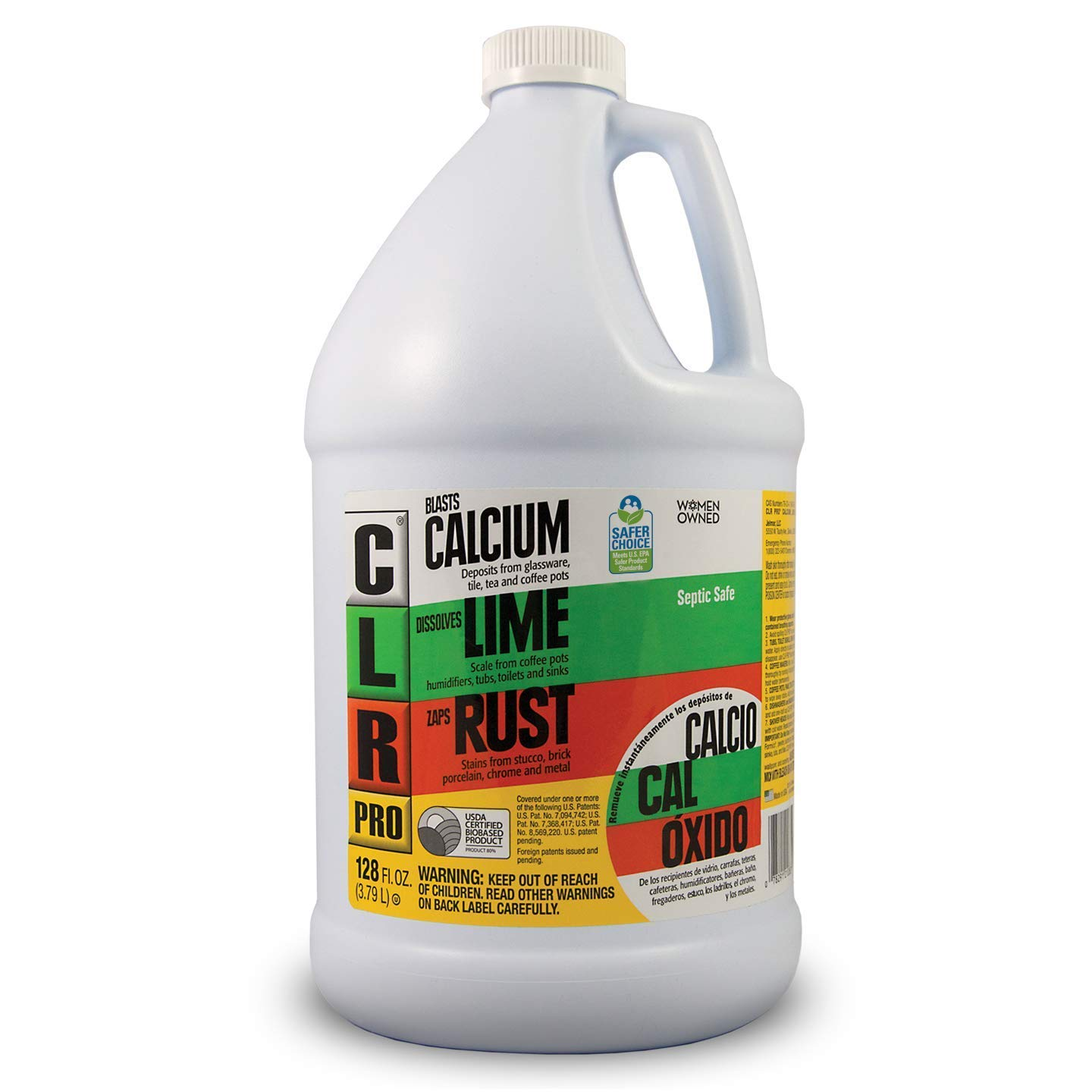 CLR PRO Calcium, Lime & Rust Remover, 1 Gallon Bottle (4 Pack) by CLR