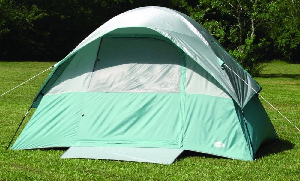 Texsport Cool Canyon 4 Person Square Dome Tent (Green/Gray, 8-Feet X 10-Feet X 65-Inch) by Texsport   B003IKB6MA