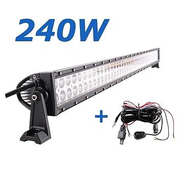 LARS360 240W Auto Beleuchtung Arbeitsleuchte LED Light Bar Offroad Zusatz Scheinwerfer Arbeitsscheinwerfer Wasserdicht IP67 f/ür 4WD PKW Jeep SUV ATV