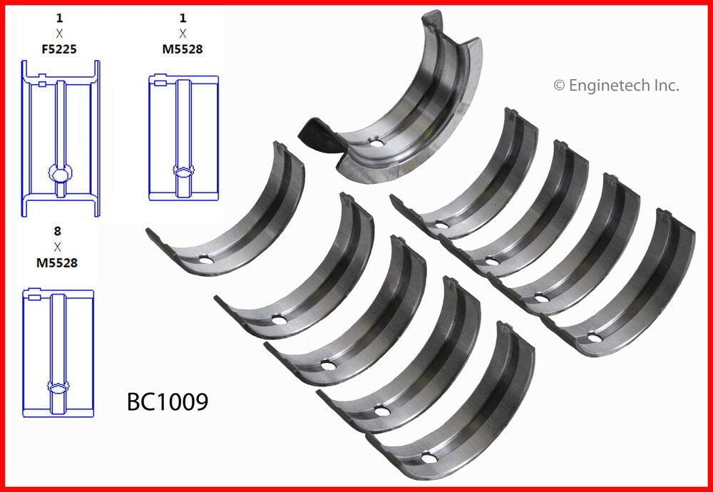 Compatible with 1983-1992 Mazda Ford 2.0L 2.2L SOHC FE F2 ENGINETECH BC1009STD Main Bearings Set Size:STD Includes Turbo