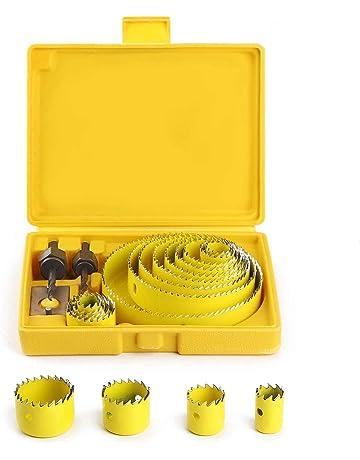 Coronas Perforadoras, SIMIKE Broca Corona Juego Taladro Ø 19 ~ 127mm Sierra Perforadora con Usillos