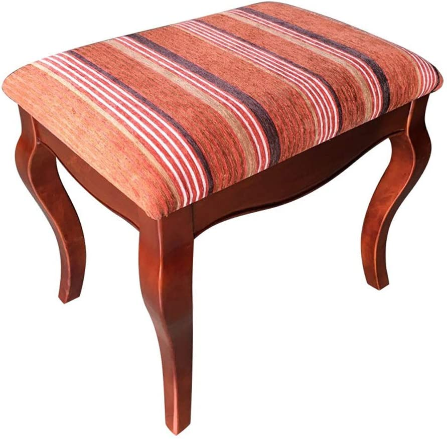 ピアノベンチ 通気性のデジタルピアノベンチアメリカンスタイルの木製ピアノ椅子キーボードスツールのピアノの鍵盤ドラムスツール 通気性 (色 : 赤, サイズ : ワンサイズ)