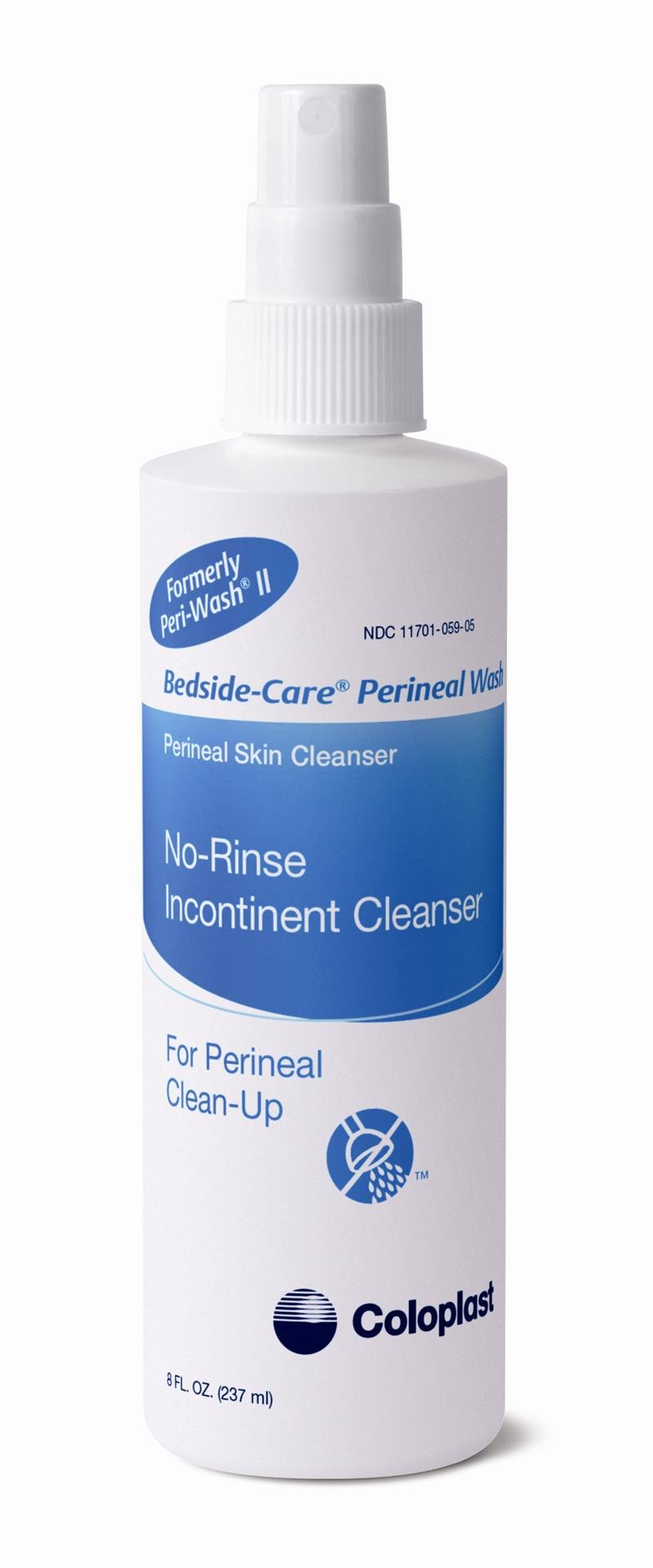 Coloplast Bedside-Care Perineal Wash No-Rinse Incontinent Cleanser 8oz 1453