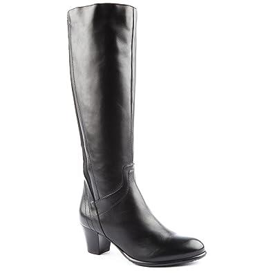 f2c0182ac7a222 Ladies Jones Bootmaker Riley Black Knee Length Boots Size 9: Amazon ...