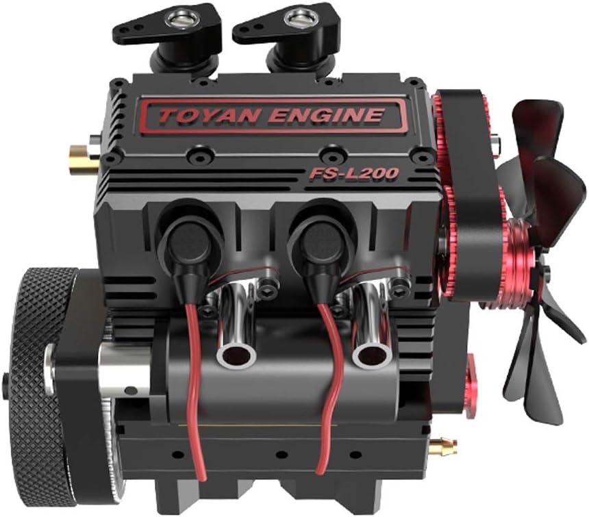Gl/ühkerze + Z/ündmodul + ESC + /Öltank + Schlauch f/ür das TOYAN FS-L200 Doppelzylinder-Viertakt-Methanol-Motormodell deguojilvxingshe TOYAN FS-L200 Motorstarter-Kit